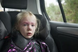 leaving a child alone in a car